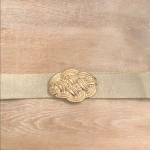 Lilly Pulitzer gold belt worn once